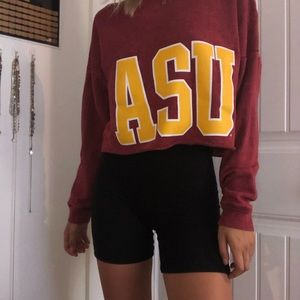 ASU Victoria's Secret Pink Crop Long Sleeve
